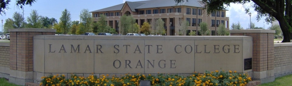 Lamar State College Orange cornerstone