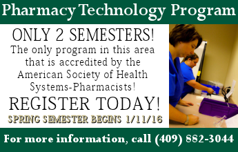 Pharmacy Technology Program: Only 2 Semesters! Call 409-882-3044