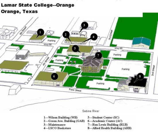 Learning Center Location: Lamar State College-Orange