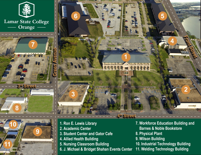 Greensboro College Campus Map.Lamar State College Orange